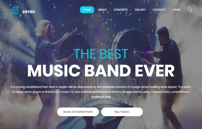 free HTML5 templates for music website : Free Music CSS Templates