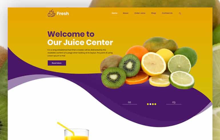 Fresh Juice PSD Template