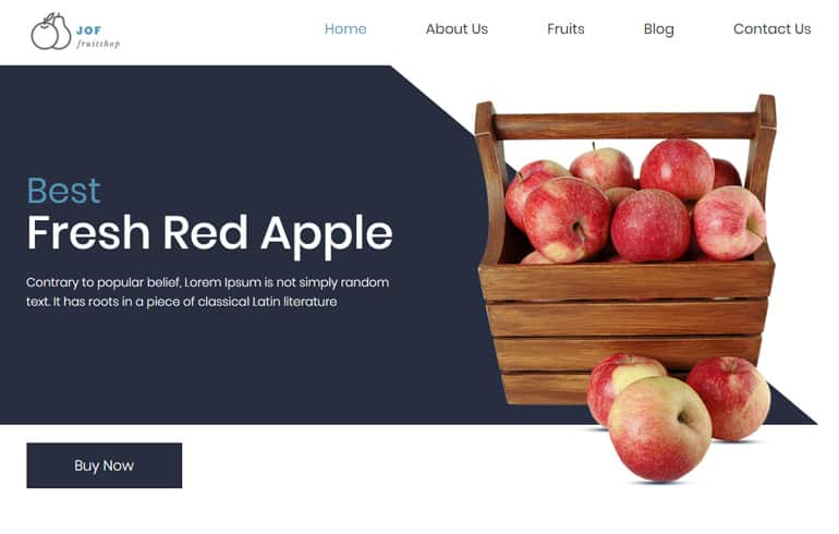 free Online Fruit Store Template