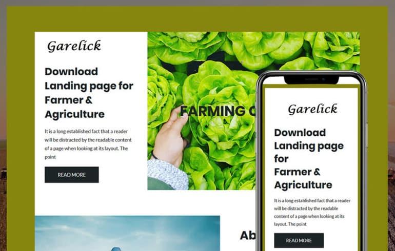free HTML5 templates for farm website