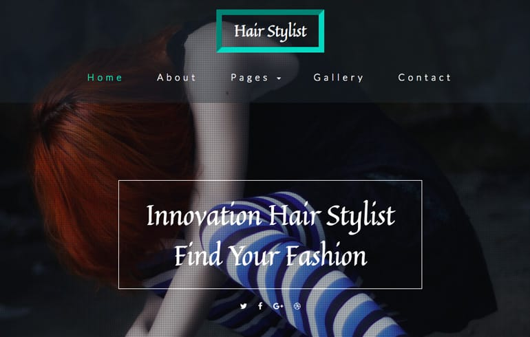 Free CSS template for Hair Style business : Beauty and Spa Templates