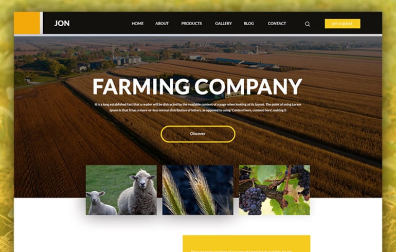 Farming PSD Template