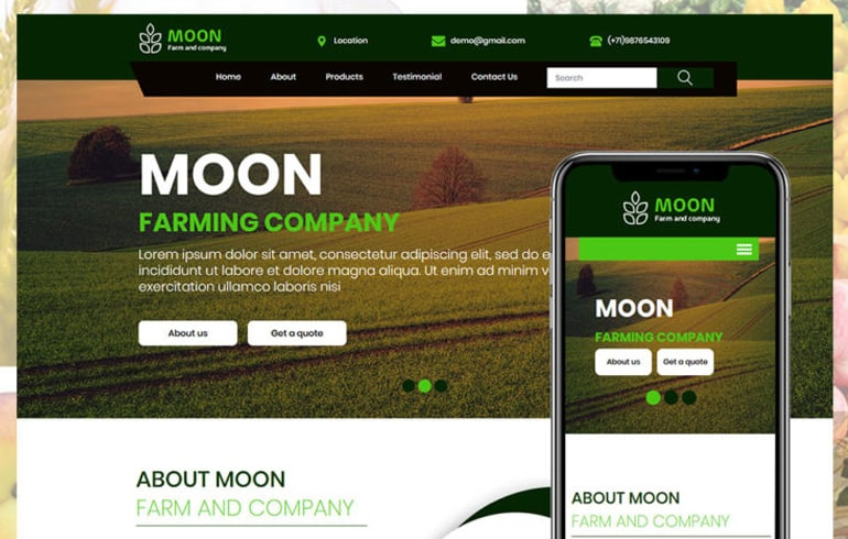 free HTML5 templates for all kinds of agriculture website