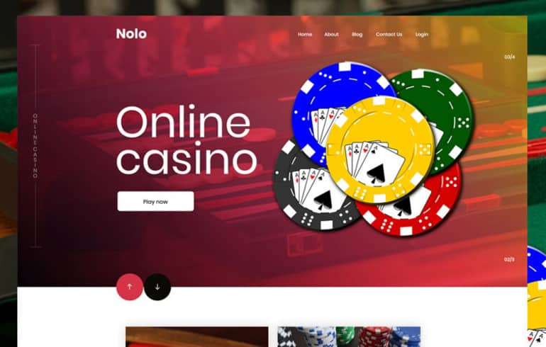 Casino PSD Template