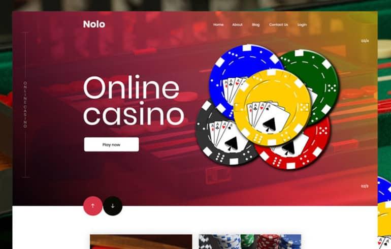 Casino PSD Template