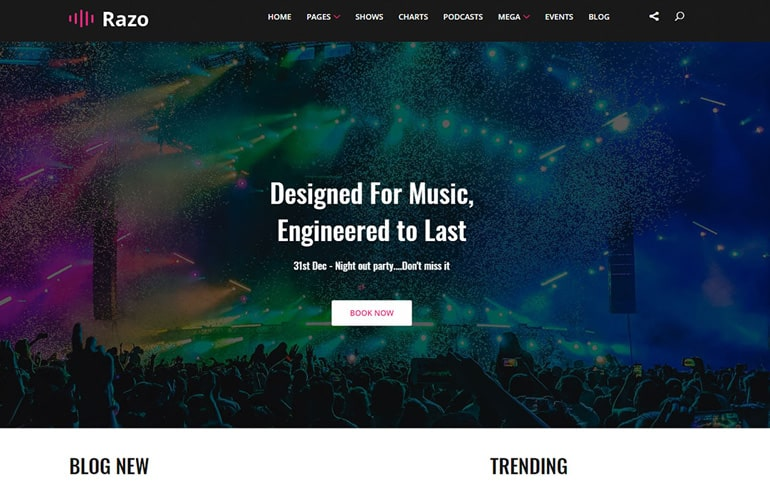 free HTML5 templates for music website
