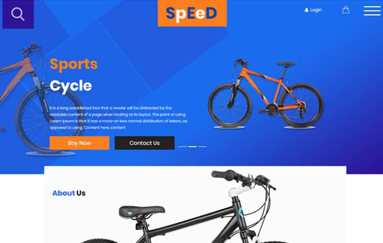 free Online Bicycle Store Template