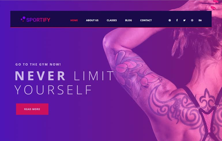 Sports and Fitness Templates : free HTML5 templates for gyms