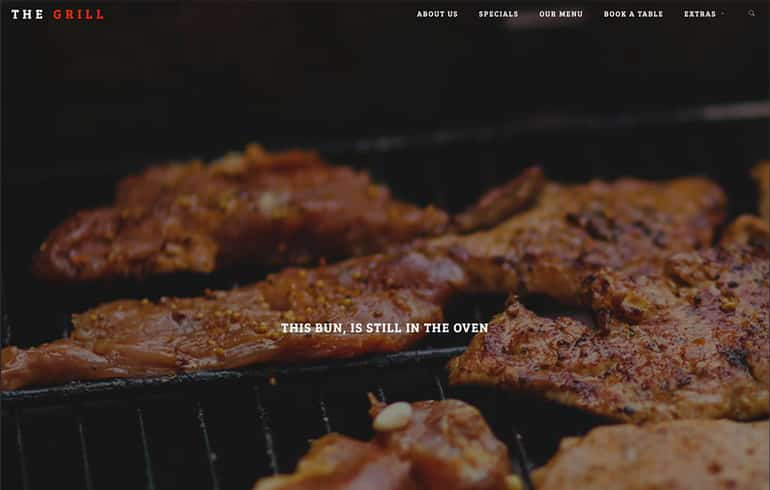 free css online restaurant Website template