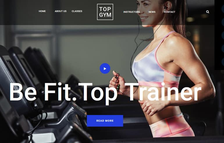 free HTML5 templates for gyms