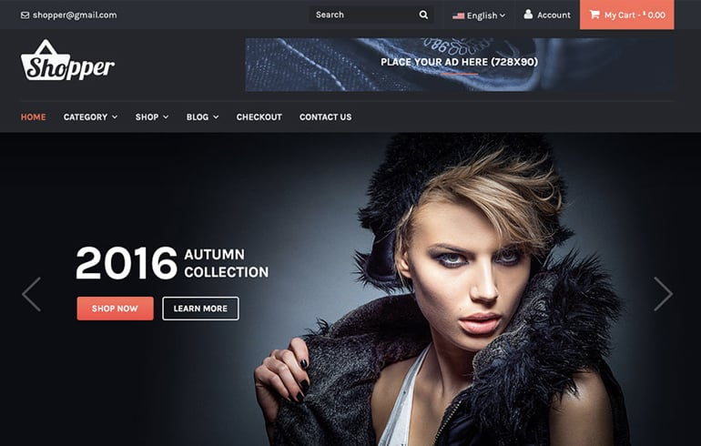 free HTML5 online shop : WP Online Shopping Templates