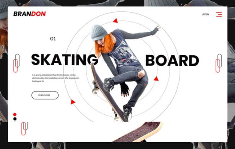 free HTML5 templates for skating sport