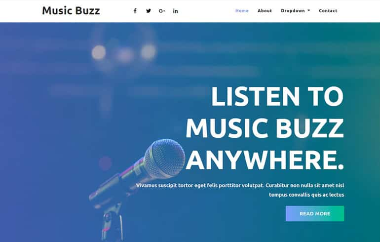 free HTML5 templates for music website for musical business