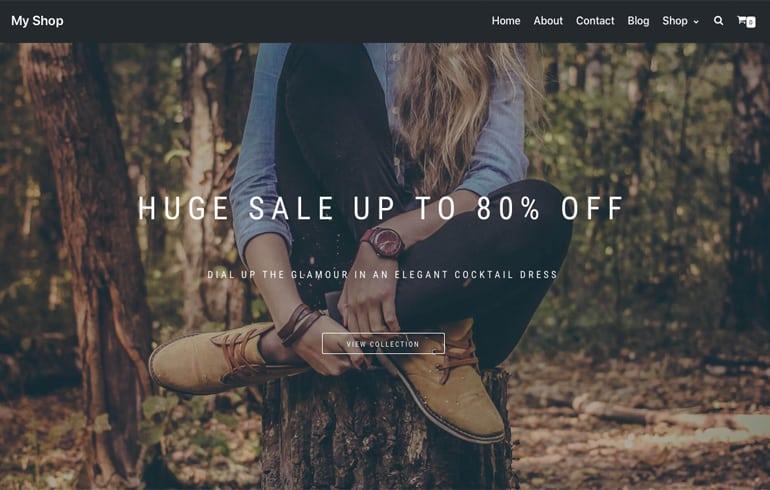 free HTML5 online shop