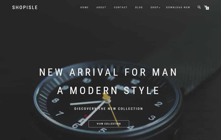 free HTML5 online wordpress shop