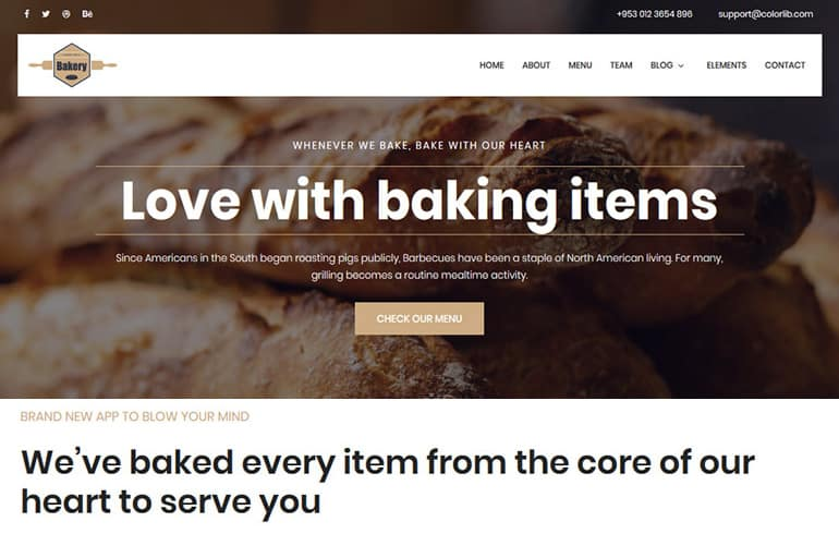 Bakery Website Templates