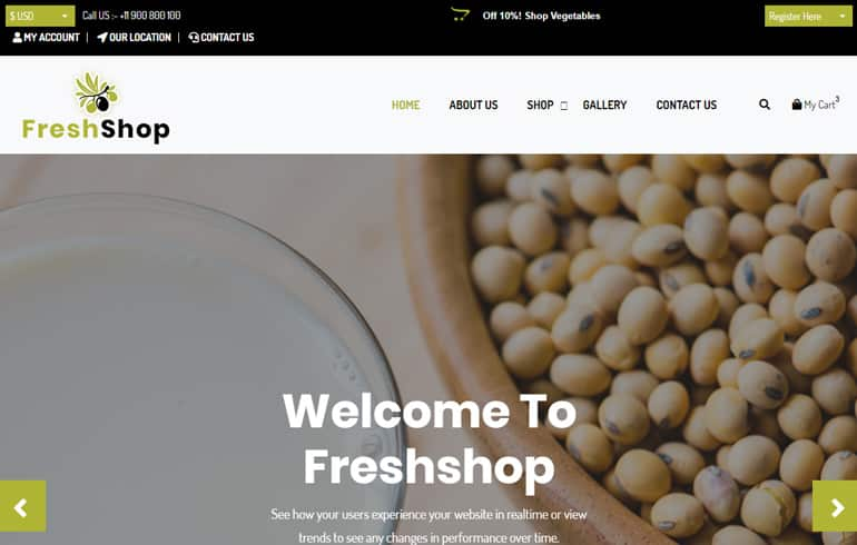 free farming ecommerce website template