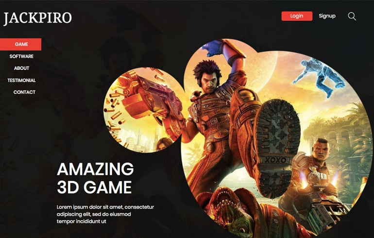 free 3D templates for game website