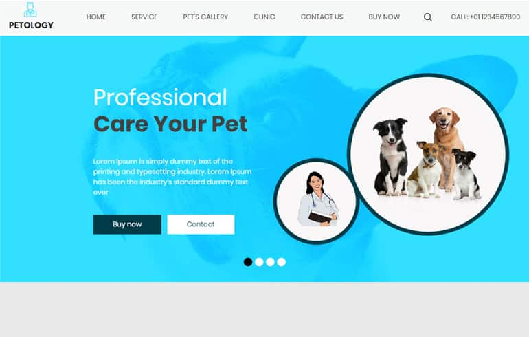 free css medical Website template for Pet