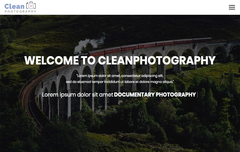 free css photography portfolio template