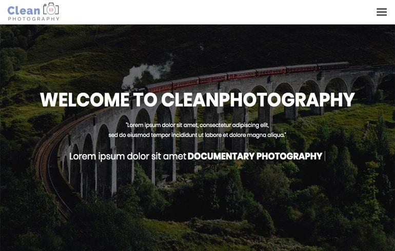 free css photography portfolio template