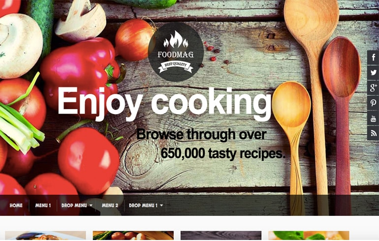 fre online recipe Blog Website template