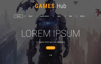 Free Gaming HTML5 Website Templates