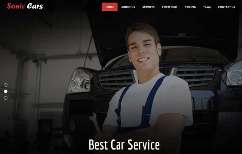 free css car repair website template