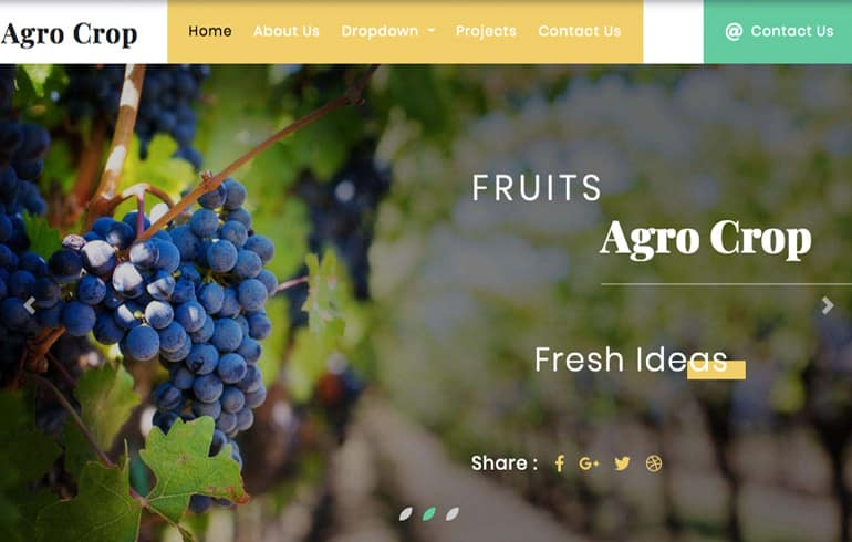 free online eco-farming website template