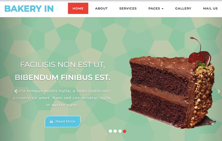 free online Bakery template