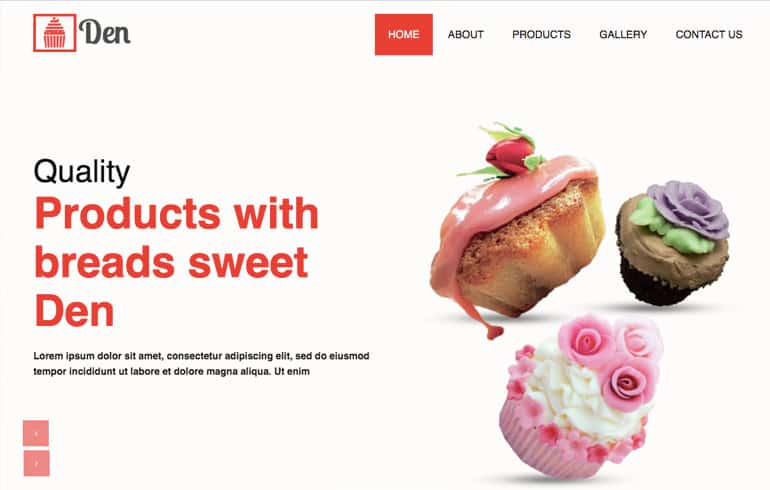 fre online Baking Website template