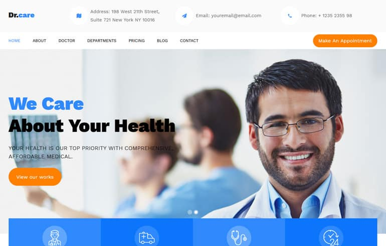 Free Css Website Template for Healthcare