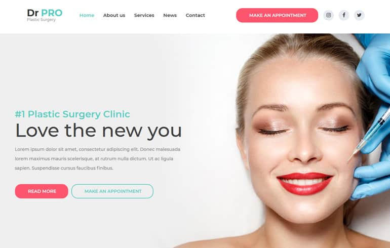 Free Css Website Template for Surgery