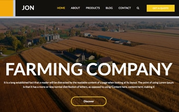 Agriculture Website Templates