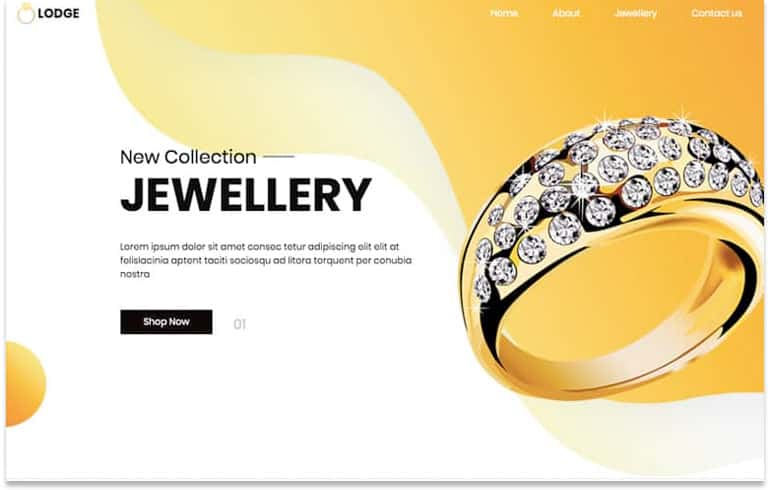free templates for Jewellery business