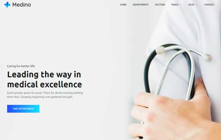 Free Css Website Template for Medicine Business