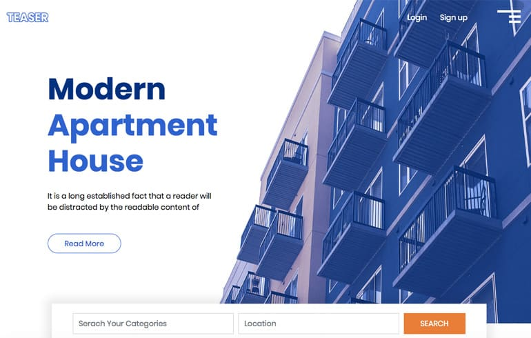 free css for housing/apartment