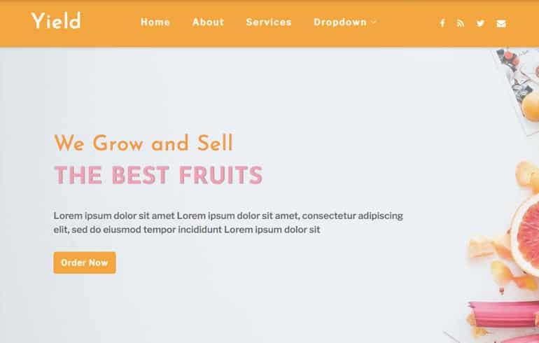 agriculture plantation website template