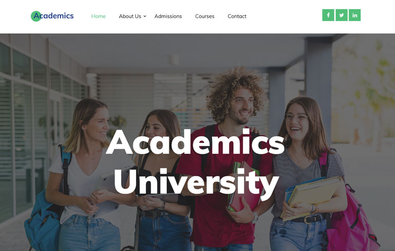 free education school theme for academics