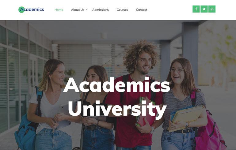 free education school theme for academics