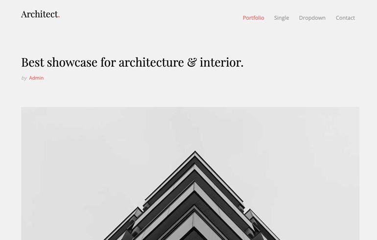 Architect Template with Elegant Design