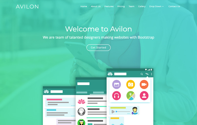 free css templates for app landing page
