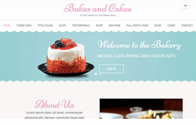 Bakes and Cake online Bakery template