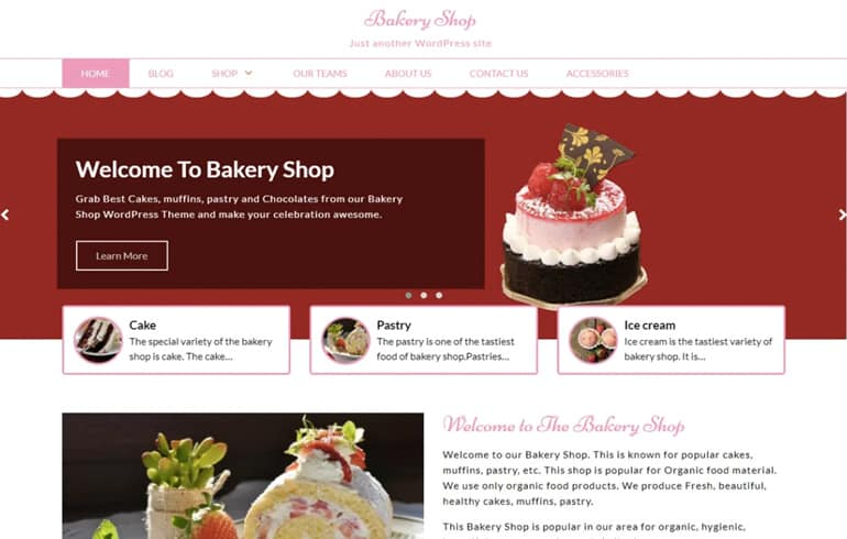 Bakery Shop Theme