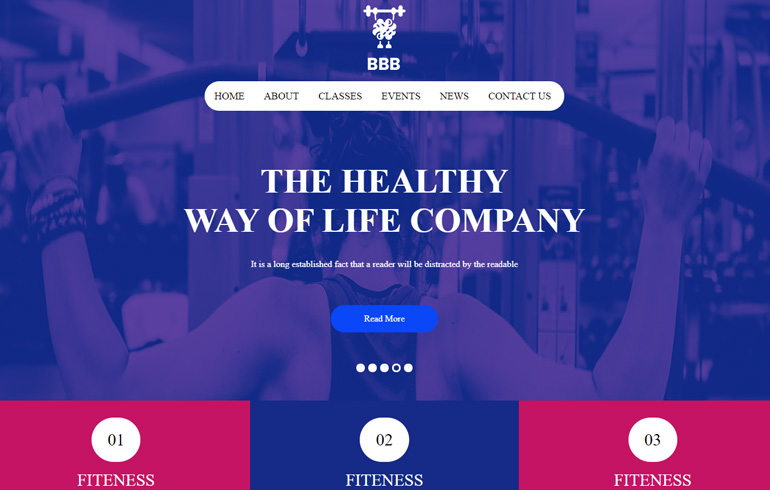 Gymnastic HTML5 templates