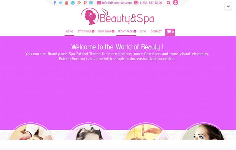 Free Spa CSS Template for Spa