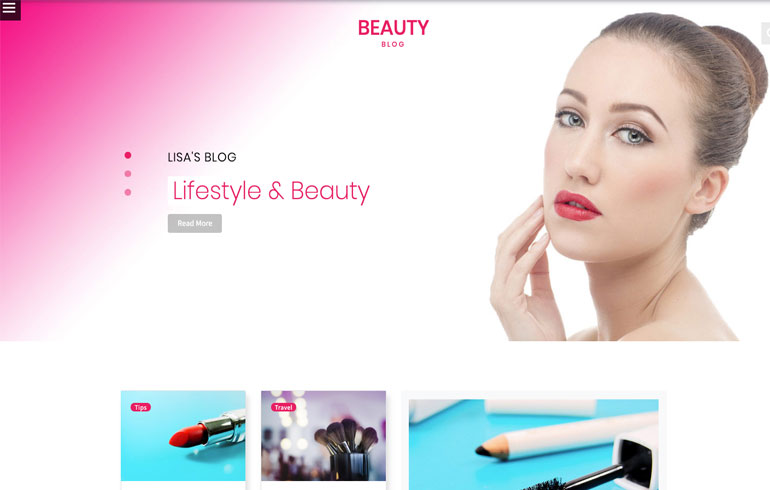 beauty template for blog website