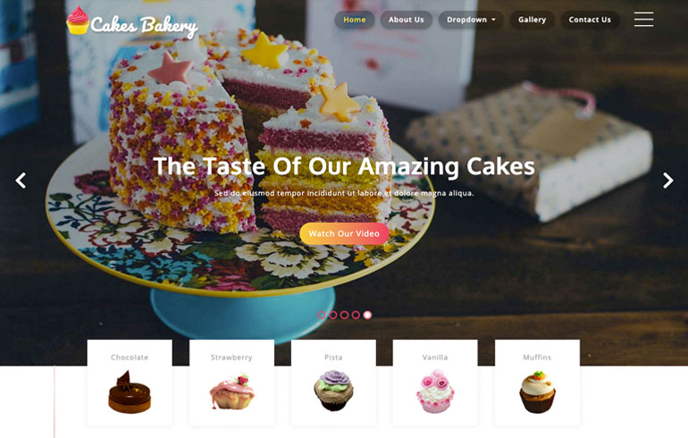 Bakes and Bakery template
