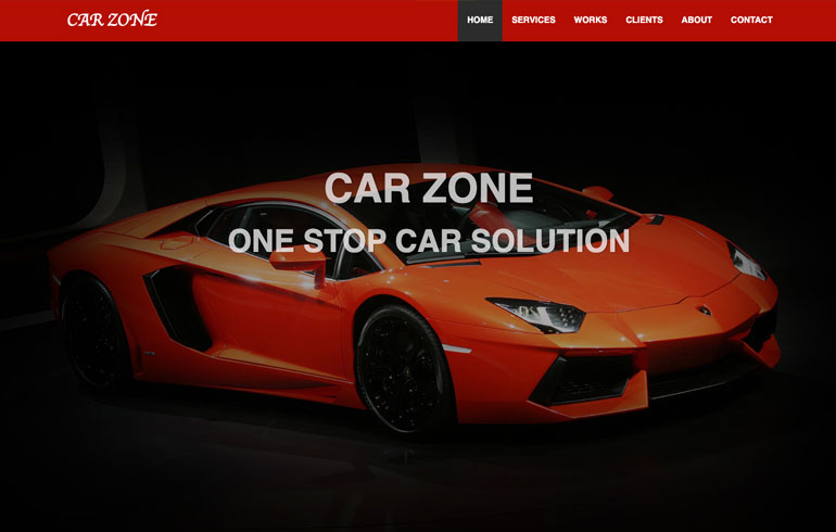 free css automobile zone template