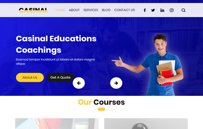 Casinal : Education Free CSS Templates